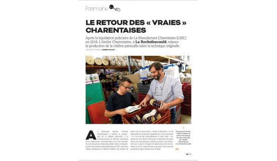 """Le Retour des """"Vraies"""" Charentaises"""